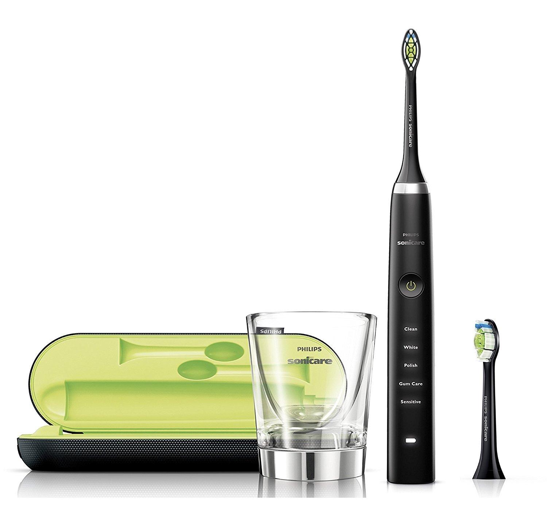 Philips Sonicare DiamondClean Elektrische Zahnbürste mit Schalltechnologie HX9352/04, schwarz