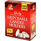 Ner Mitzvah Quality Extra Heavy Disposable Candle Holders, 50 ct