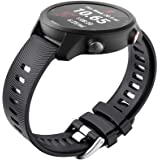 NotoCity for Garmin Forerunner 645 Band, 245 Band, 20mm Replacement Strap Soft Silicone for Vivoactive 3 Music Vívomove…