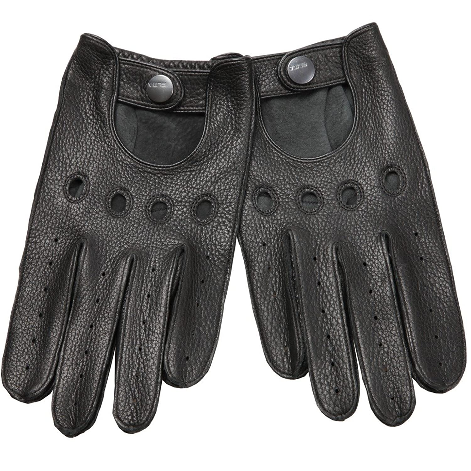 Driving gloves unlined - Elma Men S Unlined Deerskin Leather Driving Gloves Cutout At Back S Black At Amazon Men S Clothing Store Cold Weather Gloves