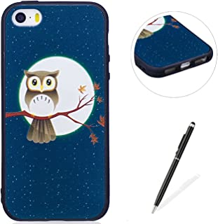 MAGQI Apple iPhone 5/5S/SE Case,Anti-Scratch Shock-Absorption Shockproof Durable Gel TPU Cover Animal 3D Cartoon Pattern Rubber Bumper Shell Premium Silicone Skin Drop Protection [Free Stylus Pen]