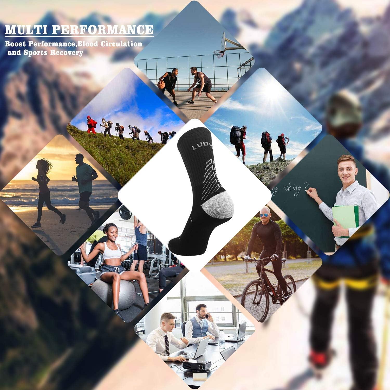 IMITOR Calcetines de Senderismo para Hombre y Mujere Algod/ón Transpirable Calcetines de Trekking Calcetines T/érmicos para Actividades al Aire Libre Ciclismo Correr Escalar 3 Pares Multicolour