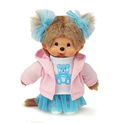 Monchhichi Sekiguchi Yume cute girl blue beard food hoodies