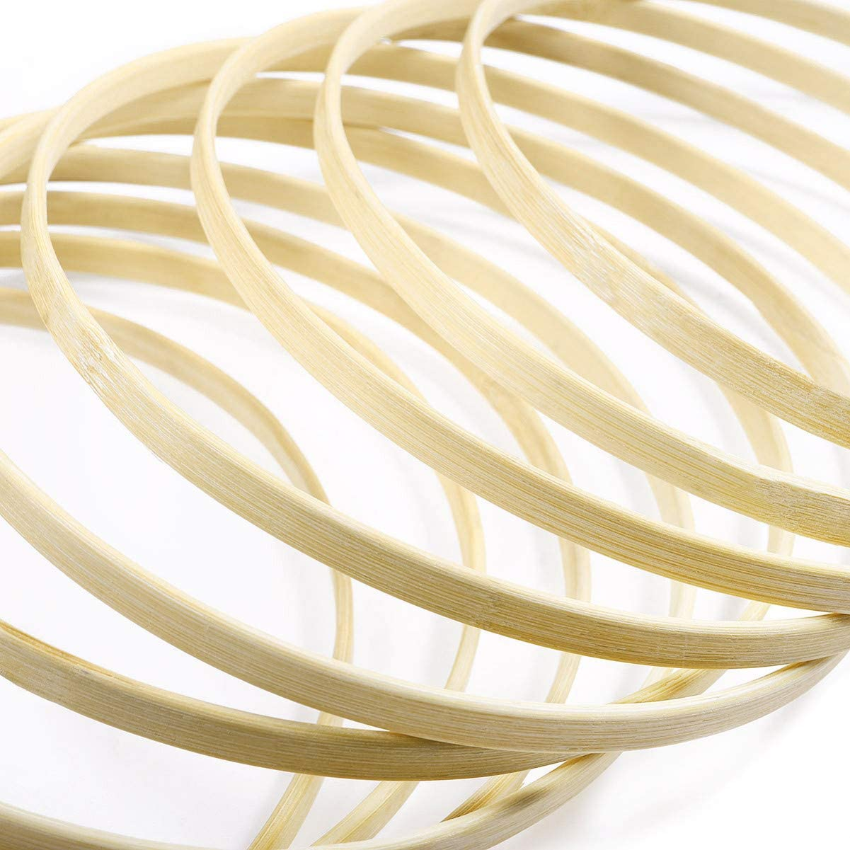 13x Traumfänger Dreamcatcher Bambus Drahtring Ø 10-26cm DIY Runde Holz Hoop