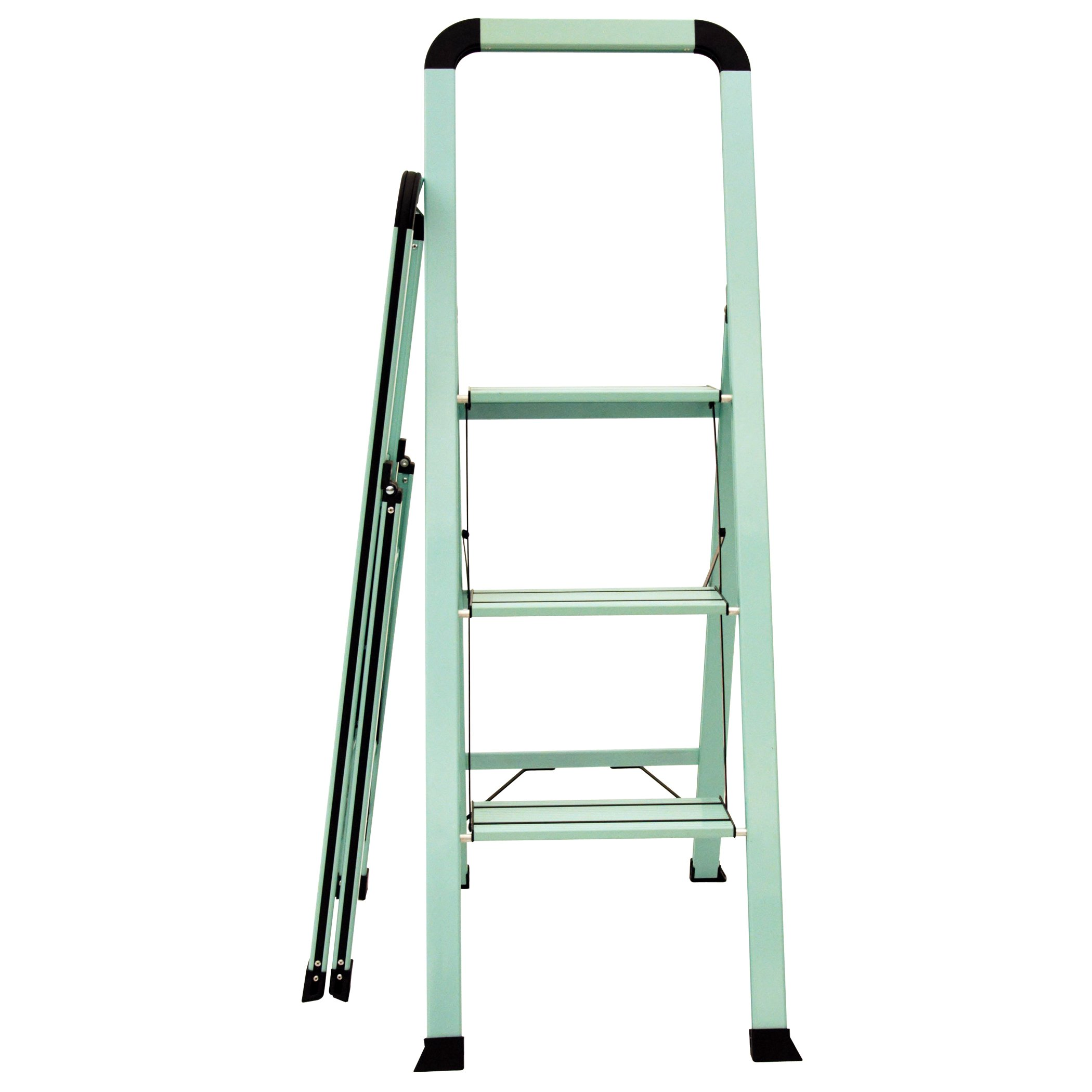 Ascent ADS3-001-TL 3 Designer Series Aluminum Step Stools 3, Teal