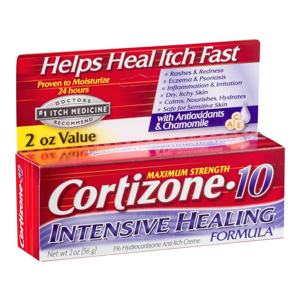 Cortizone-10 Intensive-Healing Formula 2 Ounce (Boxed) (59ml) (3 Pack) (4 Pack)