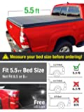 Premium Tri-Fold Truck Bed Tonneau Cover 2015-2018 Ford F-150 | Styleside 5.5' Bed