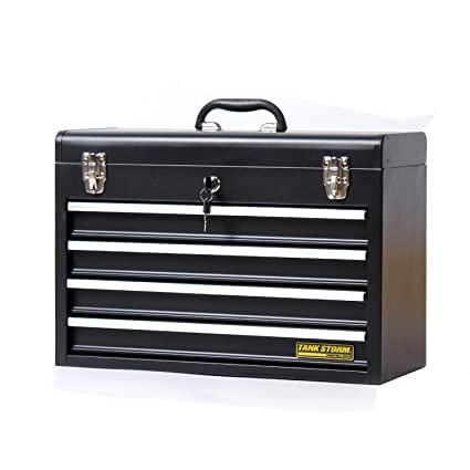 Tankstorm Portable Steel Tool Chest With Drawers 20 6 4 Drawer Box Storage Organizer
