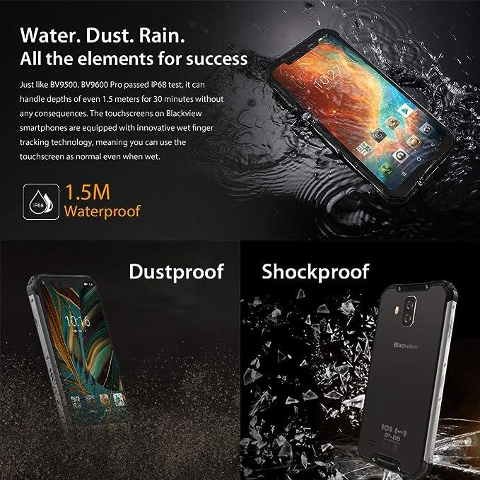 Amazon.com: Teléfonos móviles resistentes Blackview BV9600 ...