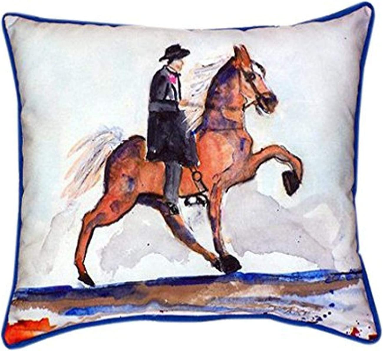 Betsy Drake Brown Walking Horse Indoor Outdoor Pillow 20 X 24 Home Kitchen