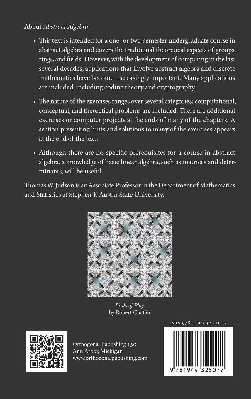 abstract algebra theory and applications thomas w judson rh amazon com