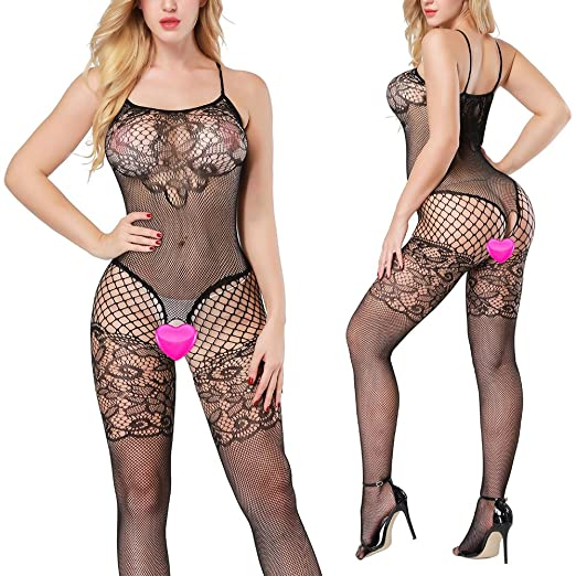008327f29b Sexy Lingerie for Women Sex Fishnet Crotchless Bodystocking Leotard Tights  Teddy Bodysuit
