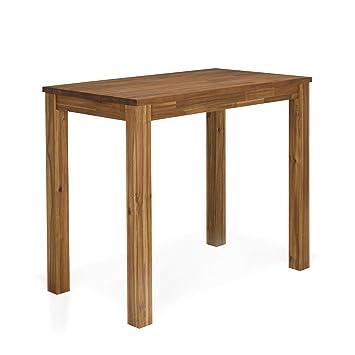 Amber Table Haute De Bar En Acacia Naturel Alinea 120 0