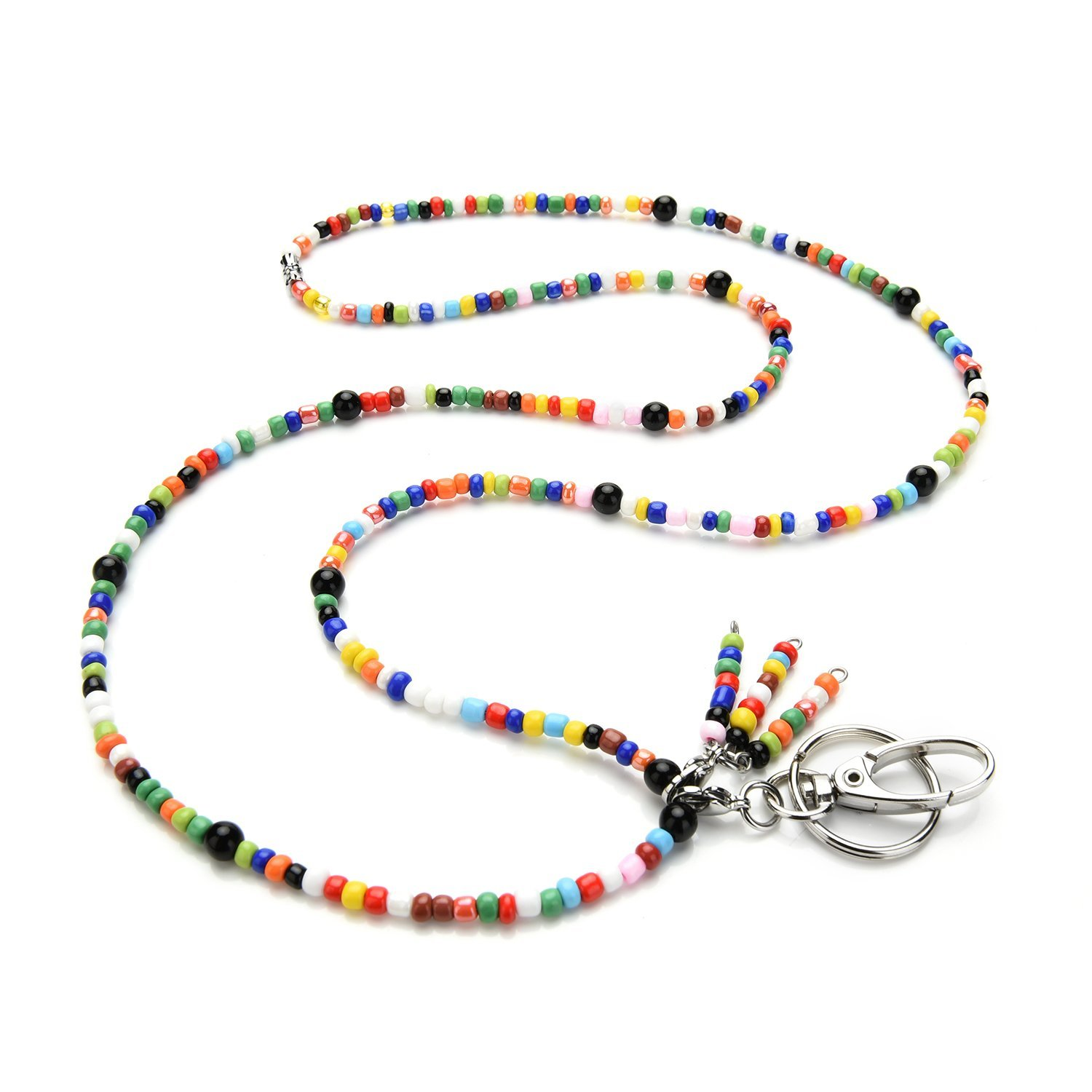 LUXIANDA Colorful Necklace Lanyard Necklace(Random Colors), ID Badge and Key Holder for Women,Office Lanyard Necklace Key Lanyard Badge ID Holder