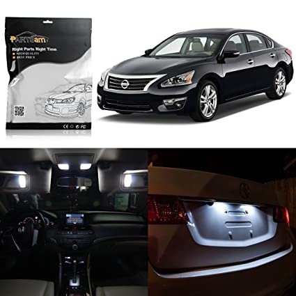 White Nissan Altima >> Partsam 2013 2014 2015 Nissan Altima White Interior Led Package Kit License Plate Lights 11 Pieces