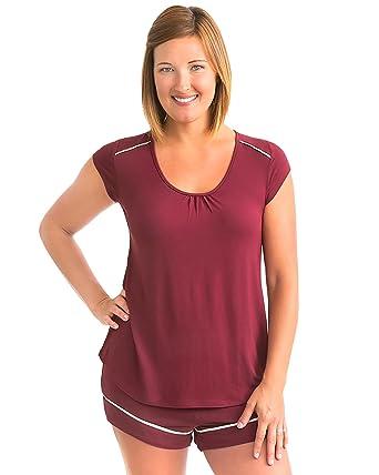 61ee527e74179 Kindred Bravely Amelia Ultra Soft Maternity   Nursing Pajamas - Shorts Set  (Cabernet