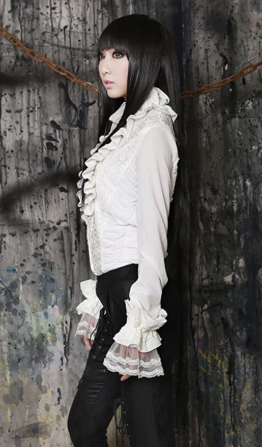 Pentagramme - Camisas - para Mujer Blanco Medium: Amazon.es: Ropa