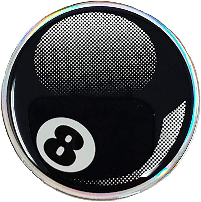 quattroerre 14036 Sticker adhesivo 3d bola de billar 8: Amazon.es ...