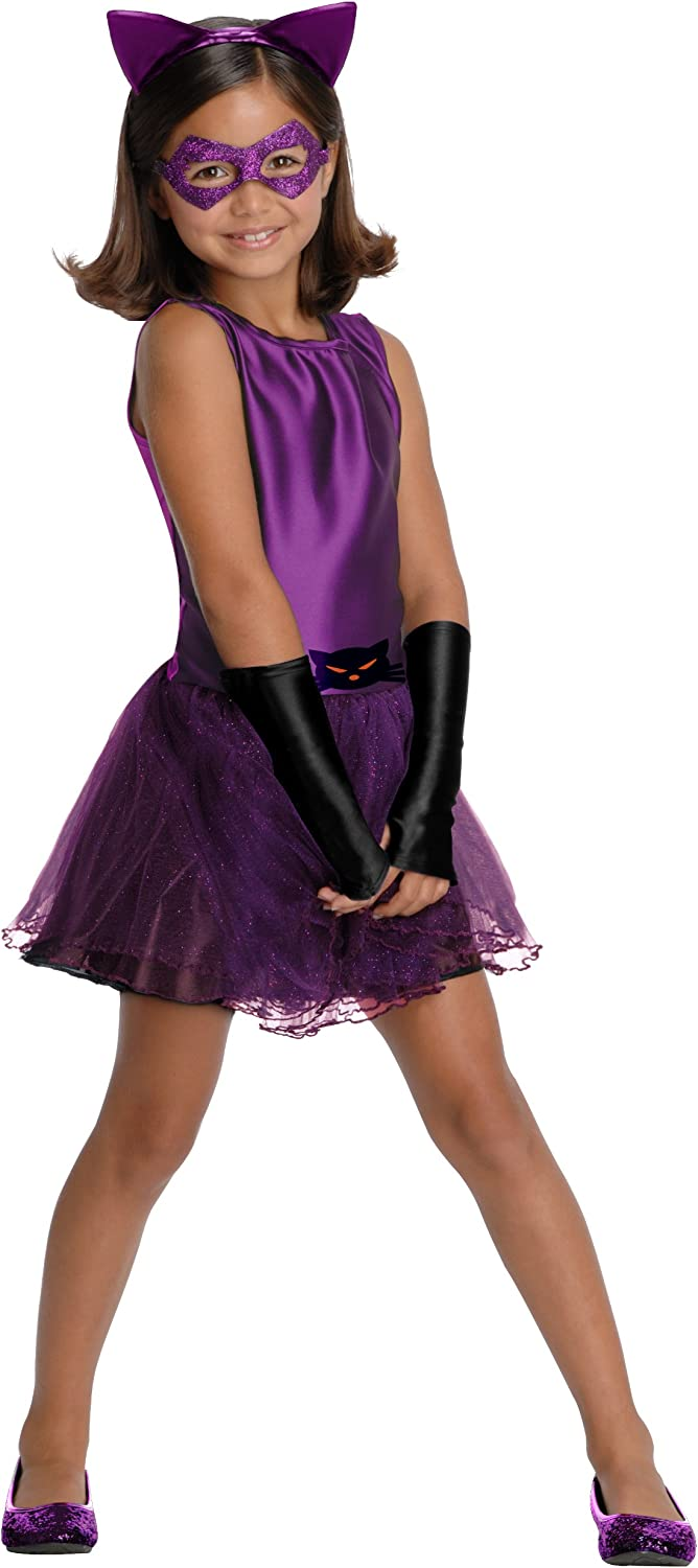DC Super Villain Collection Catwoman Girls Costume with Tutu Dress Toddler 1-2