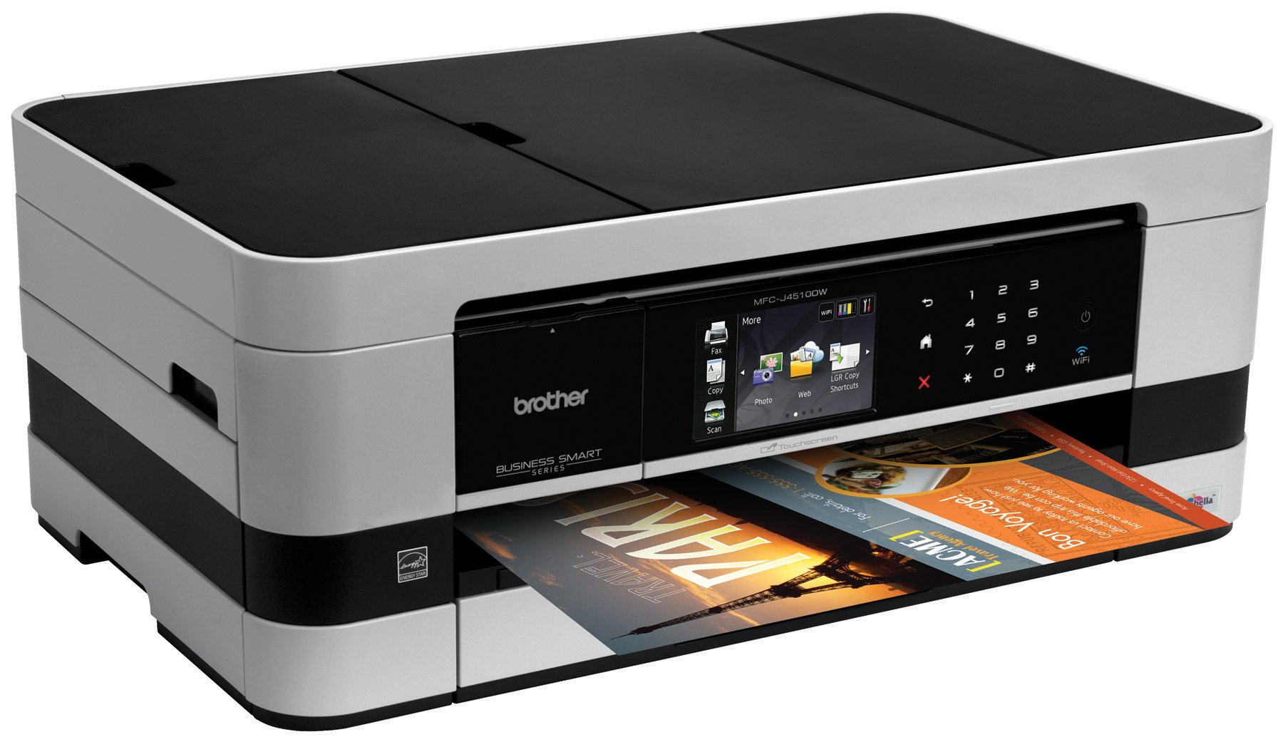 Brother Printer MFCJ4510DW Wireless Color Photo Printer with Scanner, Copier and Fax, Amazon Dash Replenishment Enabled by Brother (Image #3)