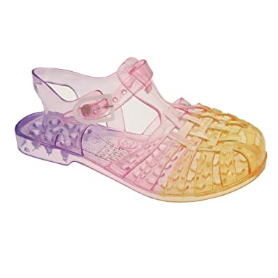 04838c49d69 Childrens Girls Two Tone Ombre Jelly Sandals (2 UK) (Orange Pink ...