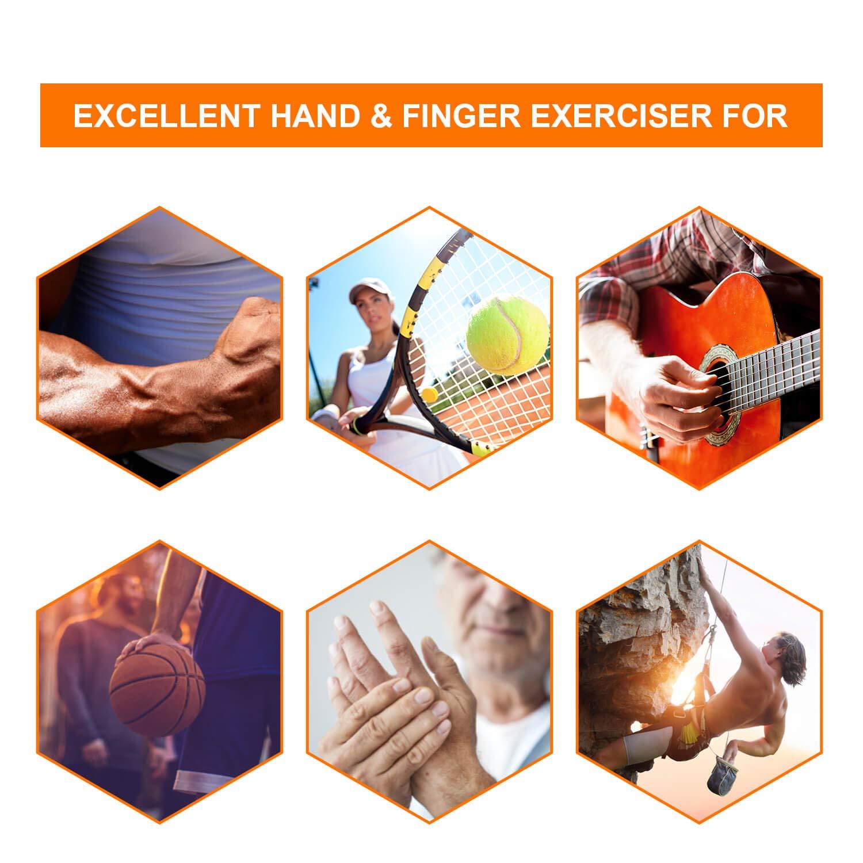 Orista Finds Hand Grip Strengthener, Grip Strength Trainer Forearm Grip Workout Adjustable Resistance 22-88 Lbs 30-145 Lbs Extended Hand Gripper Grip Exerciser for Athletes Musicians Men Kids