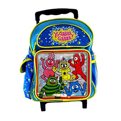 "Yo Gabba Gabba Rolling Backpack - Toddler 12"" inches: Clothing"