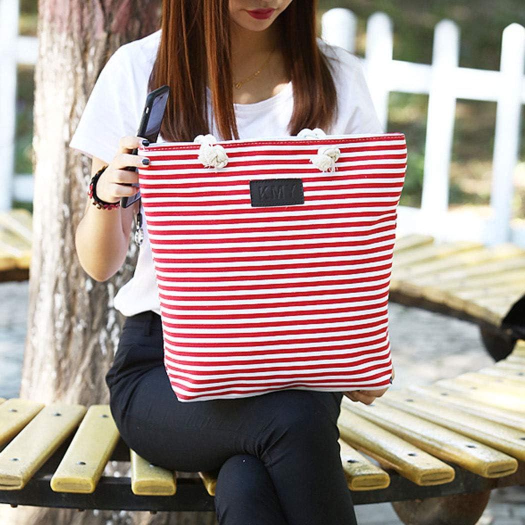 COOFIT Womens Sac à bandoulière Fashion Stripe Pattern Tote Bag Sac à bandoulière pour Plage Watermelon Red