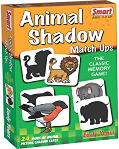 Smart 01024 Animal Shadow Match Card Game