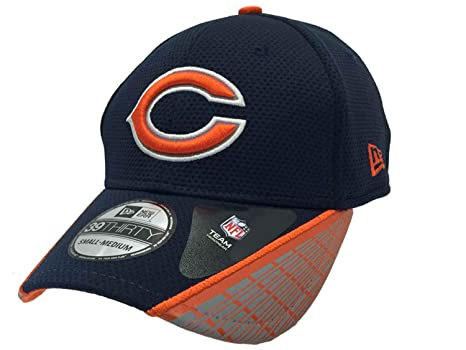 95fcbc4d0 Image Unavailable. Image not available for. Color  New Era Chicago Bears  39Thirty Navy Performance Mesh Structured Hat Cap ...