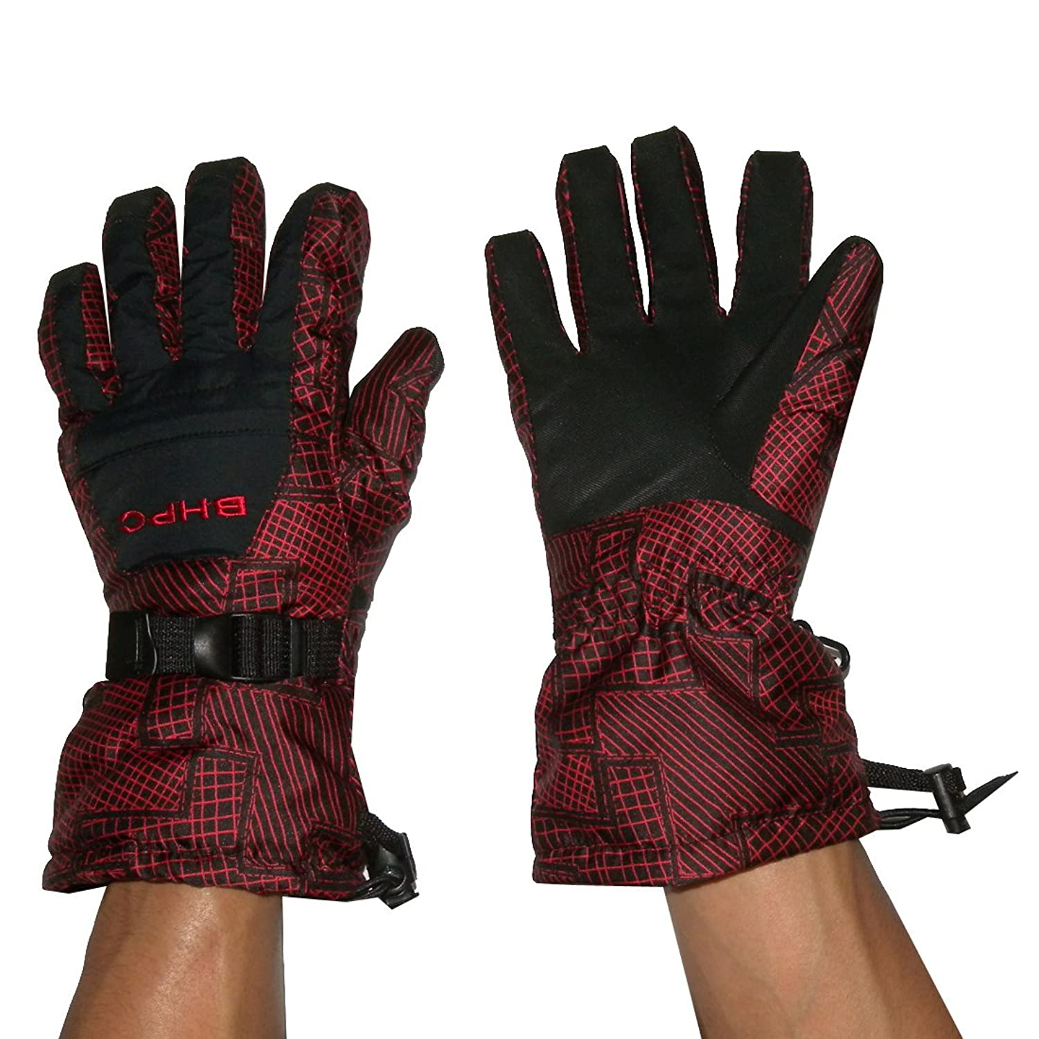 Herren Bhpc Professional Warm & Windproof Insulated Winter Ski Handschuhe with Interior Lining
