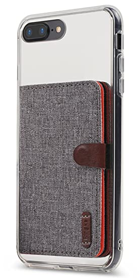 check out 5b5e1 7bb5c Ringke Flip Card Holder ID Adhesive 3M [Gray] Premium Stick Fashion  Multi-Card Slot Wallet Case Credit Card Cash Pouch Attachment Compatible  with Most ...