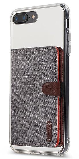 check out da3e1 38273 Ringke Flip Card Holder ID Adhesive 3M [Gray] Premium Stick Fashion  Multi-Card Slot Wallet Case Credit Card Cash Pouch Attachment Compatible  with Most ...