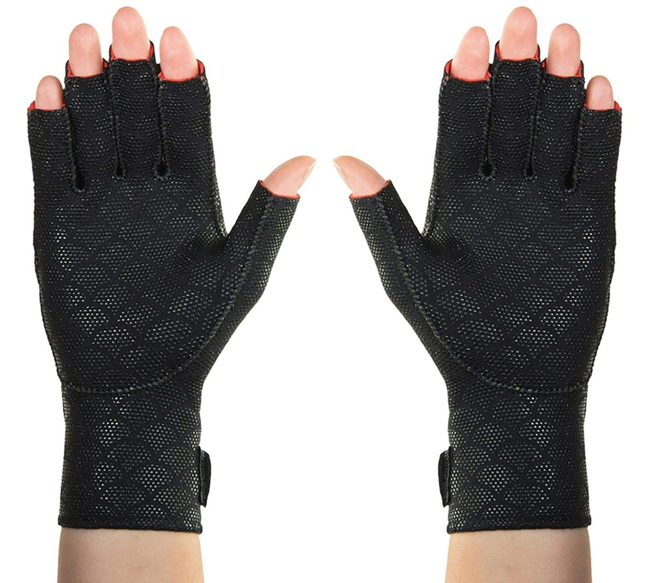Thermoskin Arthritic Fingerless Gloves, Black, X-Small