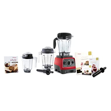 Vitamix CIA Professional Series 300 Ruby 64 Ounce Blender Set with 32 Ounce Dry Container and Bonus 48 Ounce Wet Container