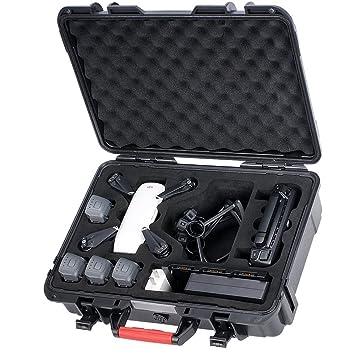 Smatree Estuche de Transporte para DJI Spark, Funda Dura Impermeable para 4 Spark baterías, control remoto, cargador de batería y protector de hélice