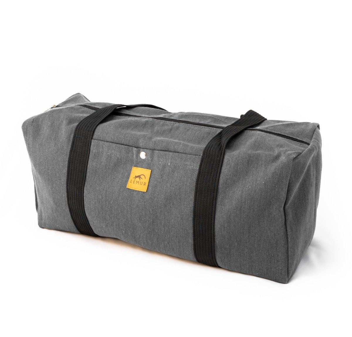 Canvas Duffel Bag - 20 Liter Gym Tote, Foldable Overnight Travel Weekend Luggage by Lemur Bags (Stone Gray)
