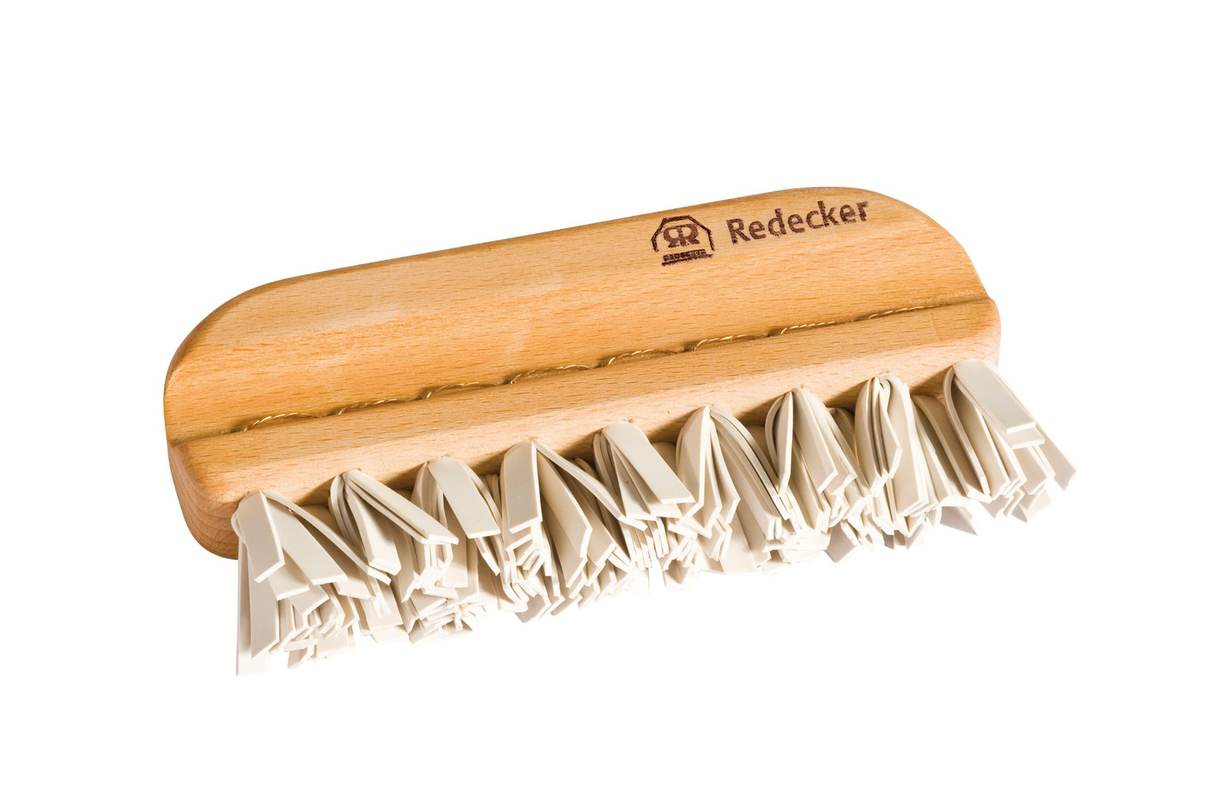 REDECKER Natural Lint Brush with Oiled Beechwood, 5-1/4'', Easy to Clean Rubber Bristles Effectively Attract and Trap Hair, Made in Germany