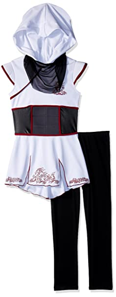 Girls White Ninja Fancy dress costume Medium: Amazon.es ...