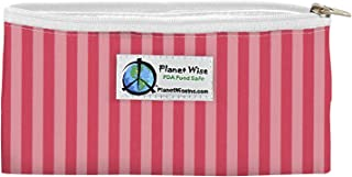 product image for Planet Wise Reusable Zipper Sandwich and Snack Bags, Snack, Pink Stripes