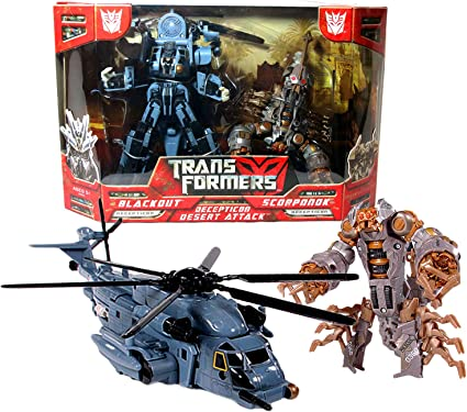 Transformers Blackout Decepticon Voyager Class Robot Helicopter Action Figures