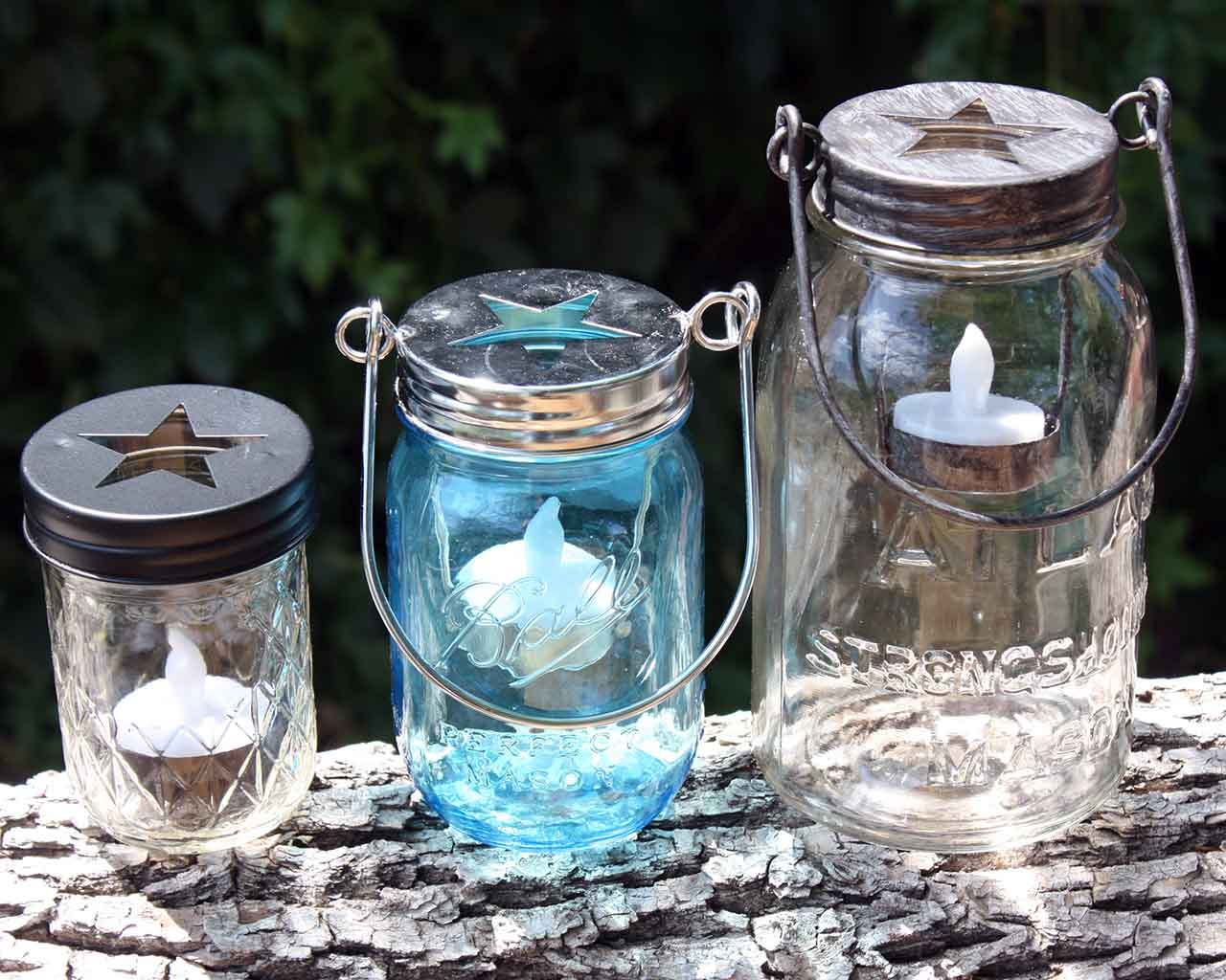Amazon.com: Star Cutout Tea Light Candle Holder Lids for Regular ...