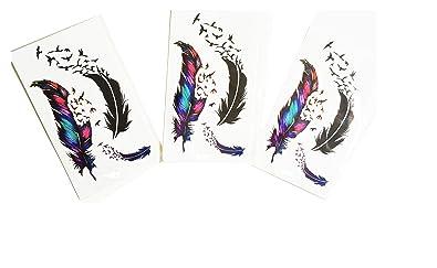 Brillantes y lentejuelas-Juego de 3 Mini provisionales de tatuajes ...