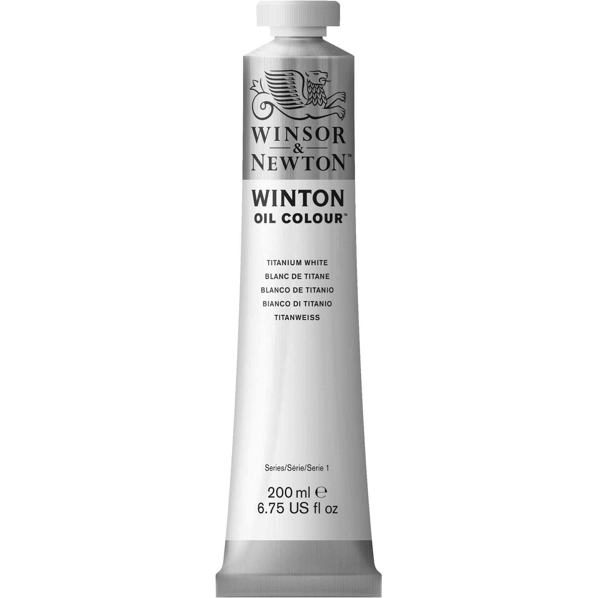 Winsor & Newton Winton Oil Colour Paint, 200ml tube, Titanium White