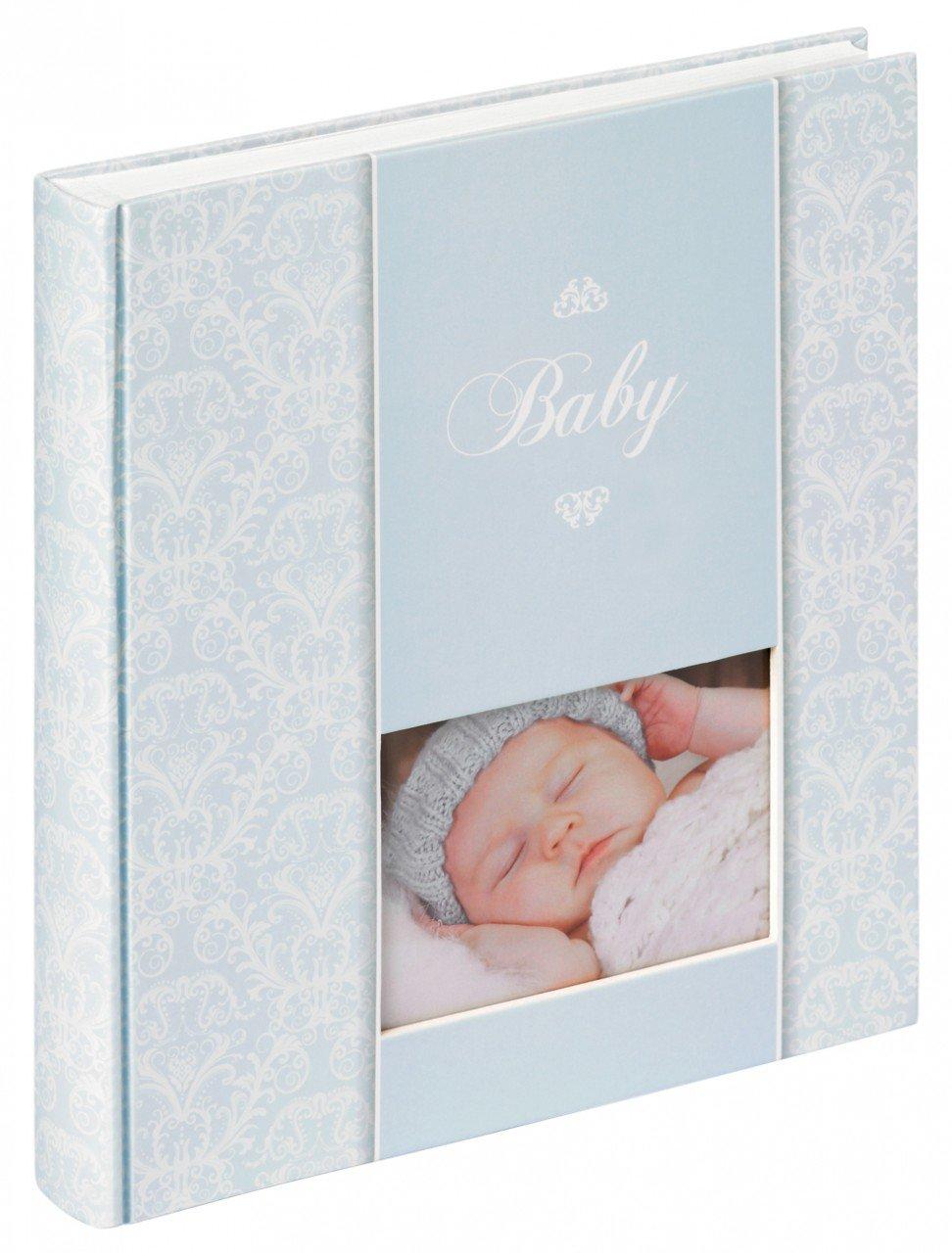 Walther Babyalbum DAYDREAMER - 30,5 x 28 cm - für bis zu 224 Bilder 10x15 - 50 Seiten - Mädchen oder Junge, Farbe:Blau Quantio