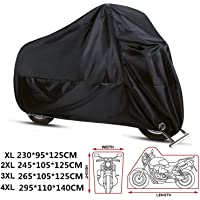 ANFTOP Funda Protector para Moto de 210D Tela Impermeable Cubierta para Moto/Motocicleta, Resistente al Agua a Prueba de…
