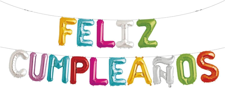 PARTY Guirnalda Globos Feliz Cumpleaños Español