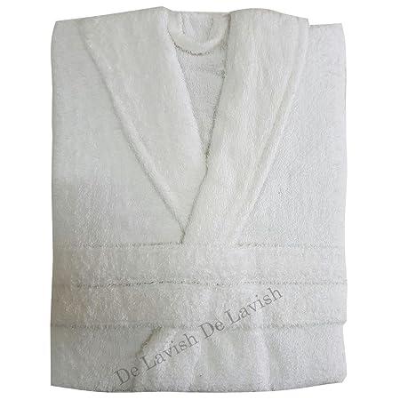 Womens Bathrobe Mens Ladies Bath Robe 100% Egyptian Cotton Dressing Gown  Terry Towelling long Free Size Unisex (White)  Amazon.co.uk  Kitchen   Home b8a087b3a