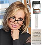 Bundle - 5 items: Play it Straight Wig by Raquel Welch, 15 Page Christy's Wigs Q & A Booklet, 2oz Travel Size Wig Shampoo, Wig Cap & Wide Tooth Comb