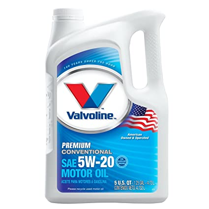 Amazon.com: Valvoline Premium Conventional 5W-20 Motor Oil - 5qt (Case of 3) (779310-3PK): Automotive